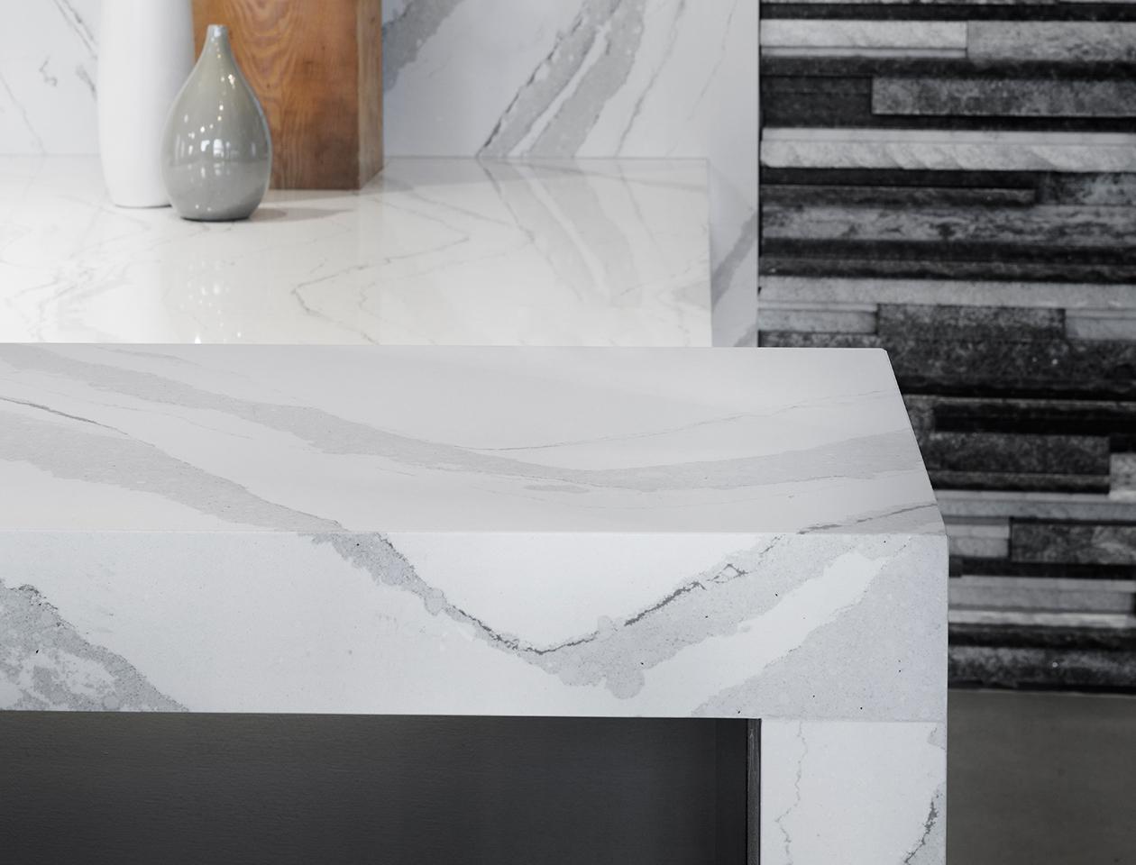 Brittanicca Cambria  Miami Circle Marble  Fabrication