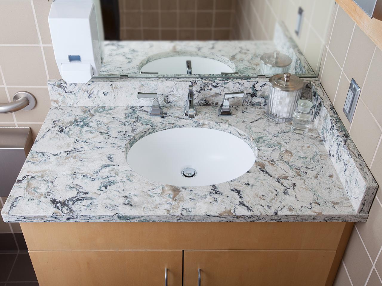 Praa Sands Cambria  Miami Circle Marble  Fabrication