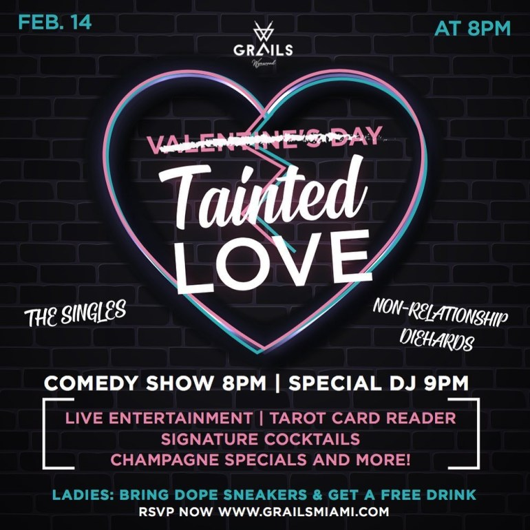 Valentines Day Comedy Show at Grails Wynwood