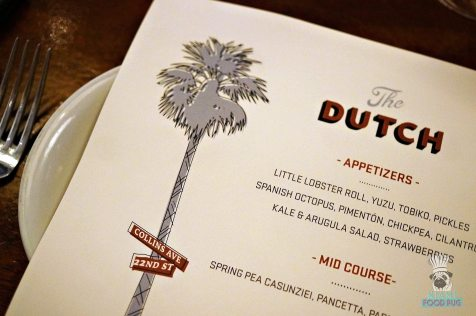 The Dutch - Menu