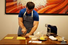Proof Pizza and Pasta - Pasta Making Class - Slicing Dough