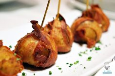 Red, The Steakhouse - Miami Spice - Bacon Wrapped Tater Tots