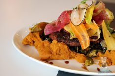 DIRT - Fall Menu - Autumn Plate with Veggie Burger