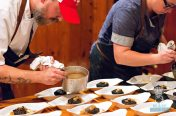 Estancia Culinaria x The Local x Knaus Berry Farm - Sunday Supper - Black Rice Boudin Plating