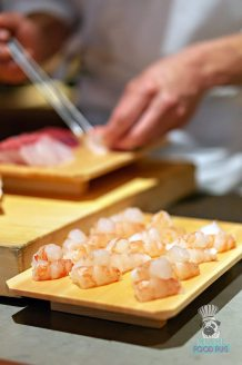 Azabu - Omakase - Shrimp Prep
