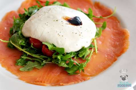 CIRC Hotel - Olivia Restaurant and Bar - Scottish Smoked Salmon with Mozzarella
