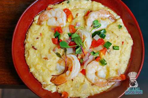 ROK:BRGR - Shrimp and Cheesy Grits