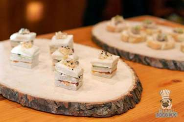 Estancia Culinaria x Heirloom Hospitality Group Farm to Farm Dinner - Long Melon Benedictine with Salmon Pastrami