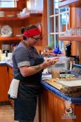 Estancia Culinaria x Heirloom Hospitality Group Farm to Farm Dinner - Rillette Prep