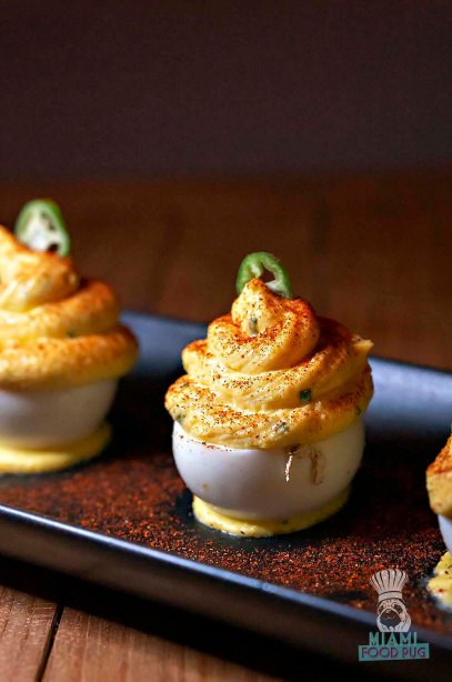The Dutch - Crab Stuffed Deviled Eggs
