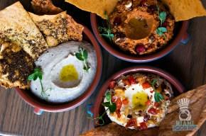Boulud Sud - Miami Spice - Hummus, Muhammara, Babaganoush Dips