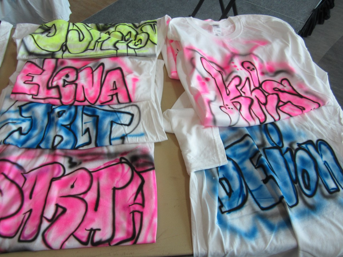 Graffiti Names- Airbrush T-shirts Graffiti-pop Artists