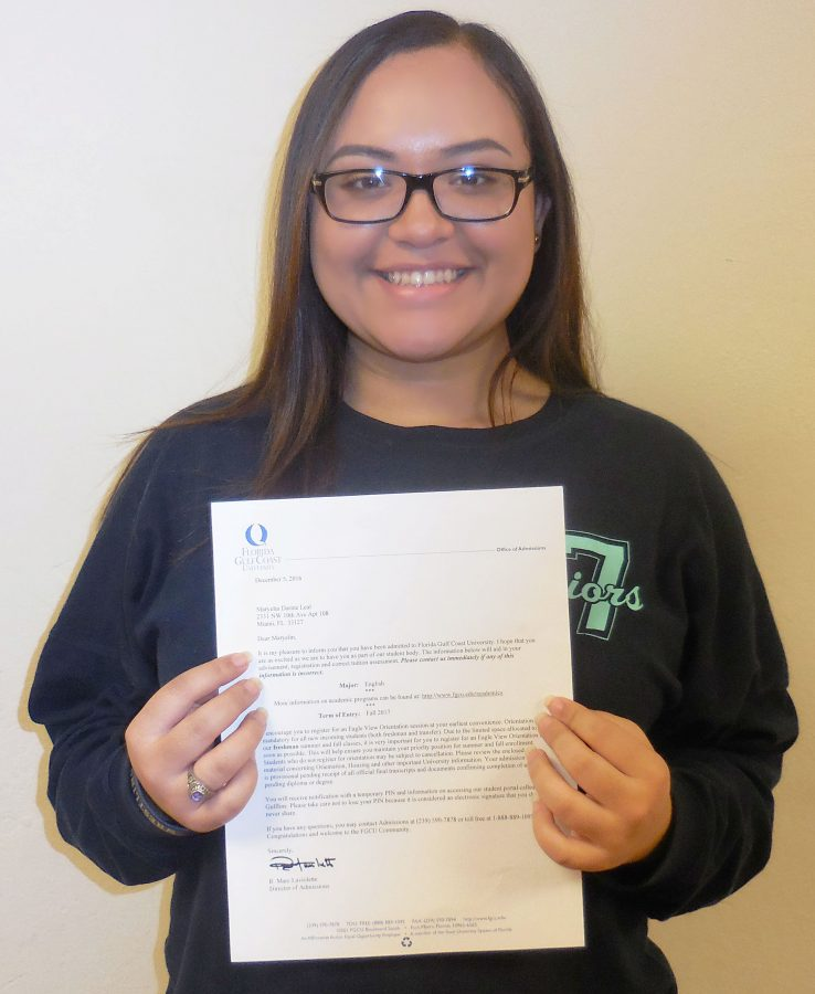 Seniors Receive College Acceptance Letters – Miami High News