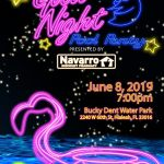 Free glow night pool party at Bucky Dent Park