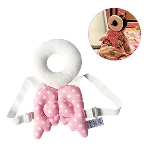 Almofada de segurança infantil ajustável para bebês Protetor de cabeça e ombro KuYou 11