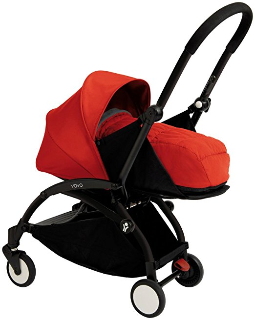 Babyzen YOYO+ Newborn Stroller – Black Red