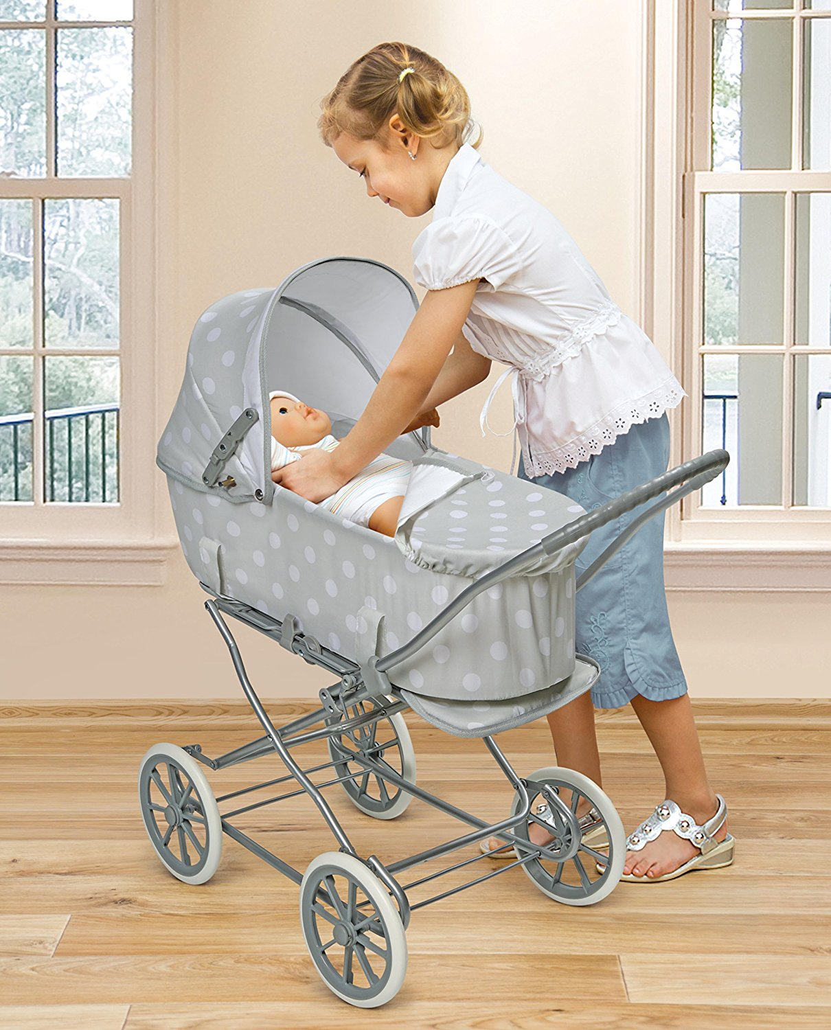Badger Basket Just Like Mommy 3-in-1 Doll Pram2