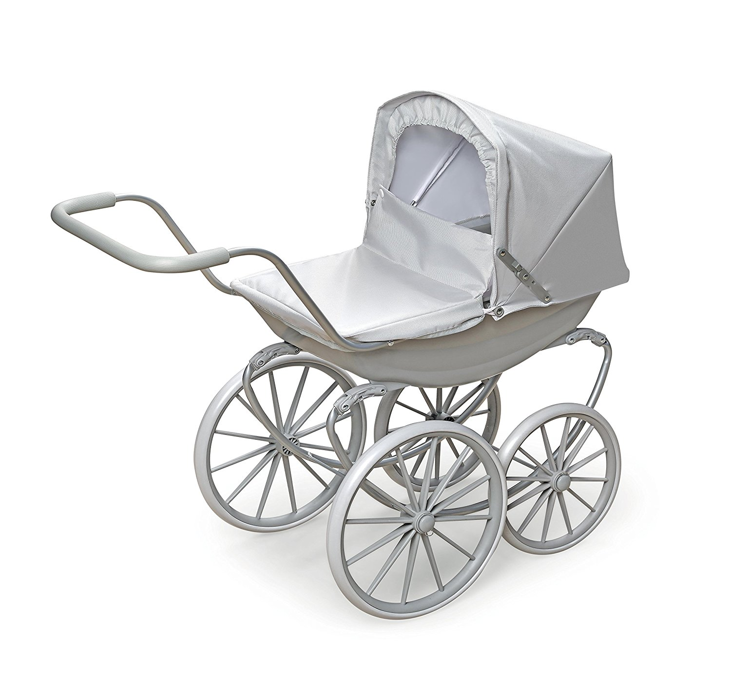 Badger Basket London Doll Pram ,fits American Girl dolls, Gray