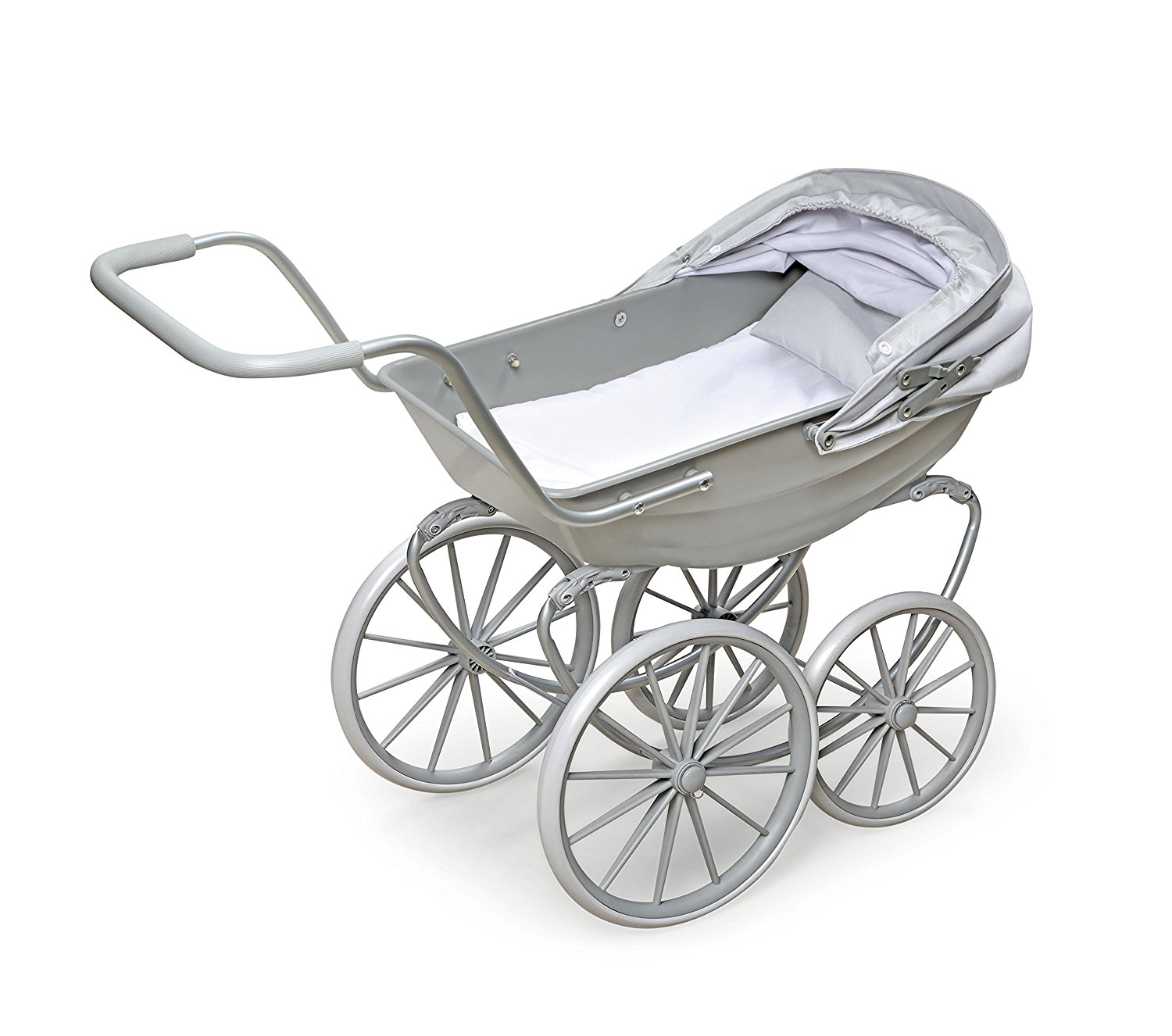 Badger Basket London Doll Pram ,fits American Girl dolls, Gray5