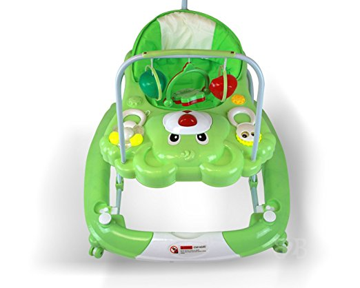 Best Safety 3 in 1 Walker, Rocker, Parent push handle, and emergency stair stopper (Bear) (Green) 2