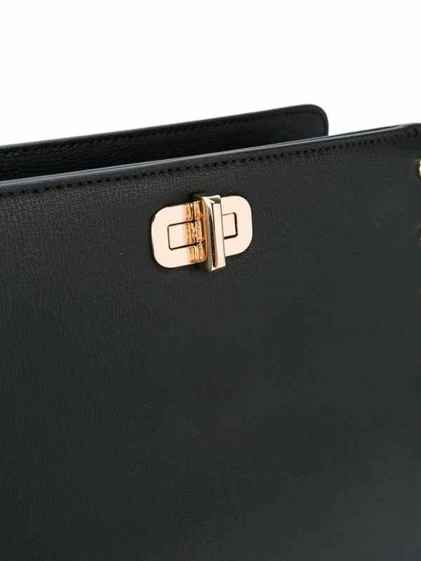 Bolsa carteiro Sylvie em couro com tachas4