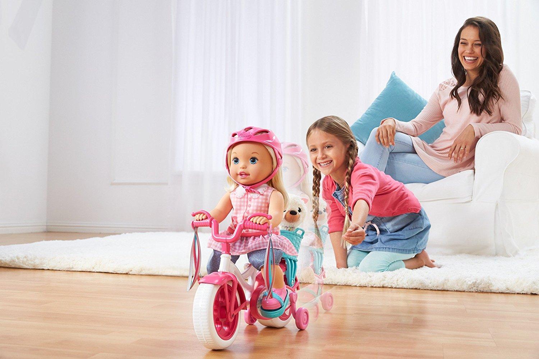 Boneca Little Mommy Aprendendo a andar de Bike Learn to Ride Doll