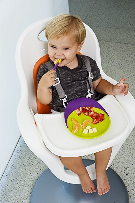 Boon Flair Highchair – Orange Pad – White Base 3