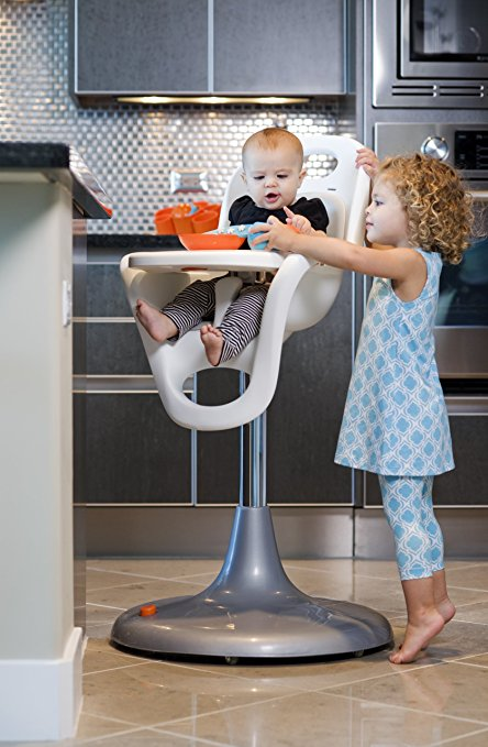 Boon Flair Highchair – Orange Pad – White Base 4