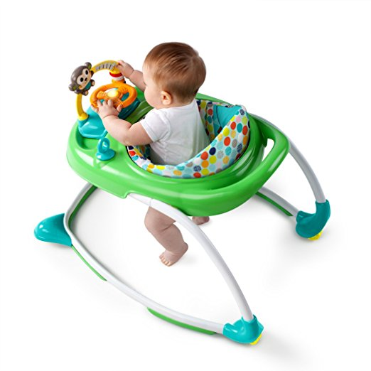 Bright Starts 2-in-1 Walkin' Wild Walker, Green 3