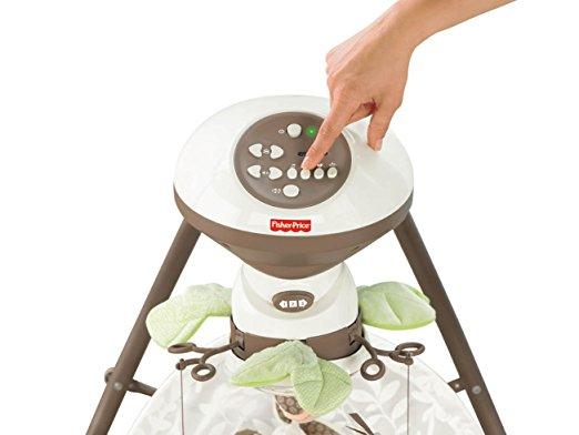 Cadeira Balanço Fisher Price Little Snugabunny Cradle Swing 7