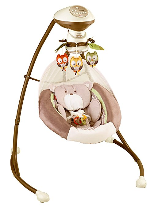 Cadeira Balanço Fisher Price My Little Snugabear Cradle Swing3