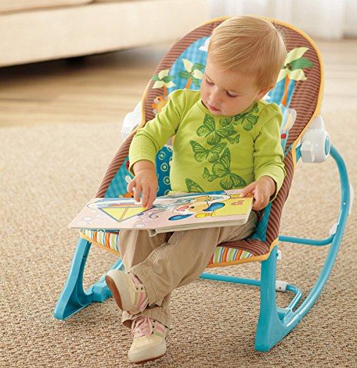 Cadeirinha de balanço Fisher-Price Infant to Toddler Rocker, Jungle Fun 4