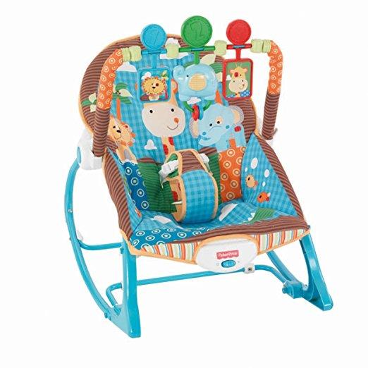 Cadeirinha de balanço Fisher-Price Infant to Toddler Rocker, Jungle Fun