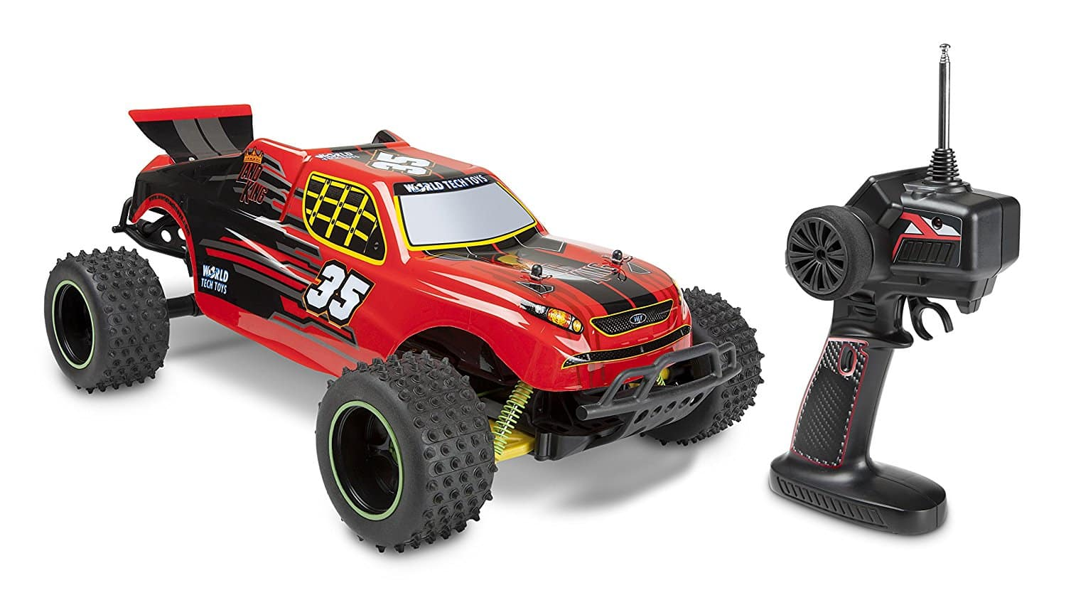 Carrinho Controle Remoto World Tech Land King Electric RC Truggy (1