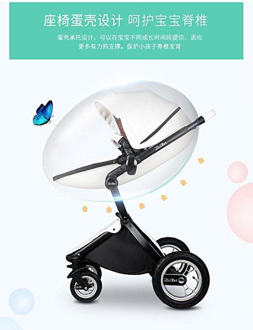 Carrinho de bebê 3 em 1 Baby Stroller 2017, 3 in 1 Function Travel System Baby Carriage and Bassinet Combo 4