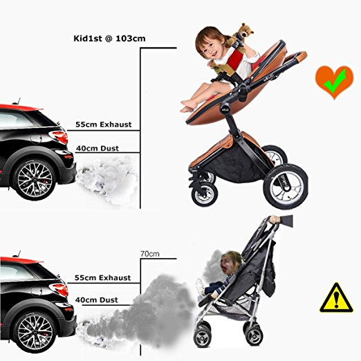 Carrinho de bebê 3 em 1 Baby Stroller 2017, 3 in 1 Function Travel System Baby Carriage and Bassinet Combo 5