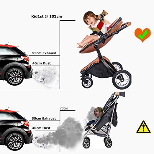 Carrinho de bebê 3 em 1 Baby Stroller 2017, 3 in 1 Function Travel System Baby Carriage and Bassinet Combo 5