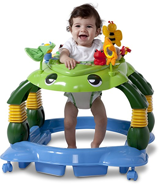 Delta Children Mason the Turtle Lil' Play Station 3-in-1 Activity Walker 2