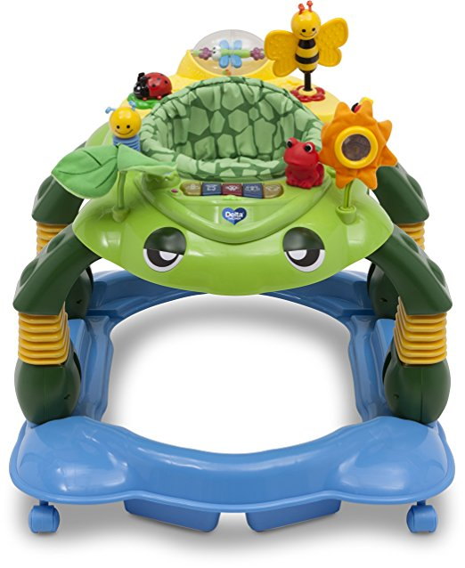 Delta Children Mason the Turtle Lil' Play Station 3-in-1 Activity Walker 3