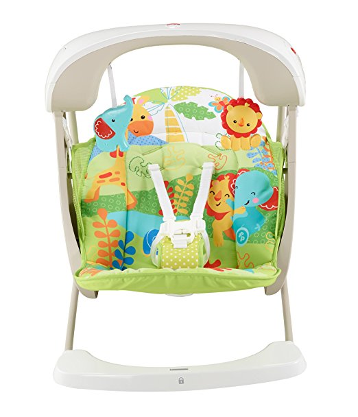 Fisher-Price Take-Along Swing and Seat, Rainforest Friends, One size 3
