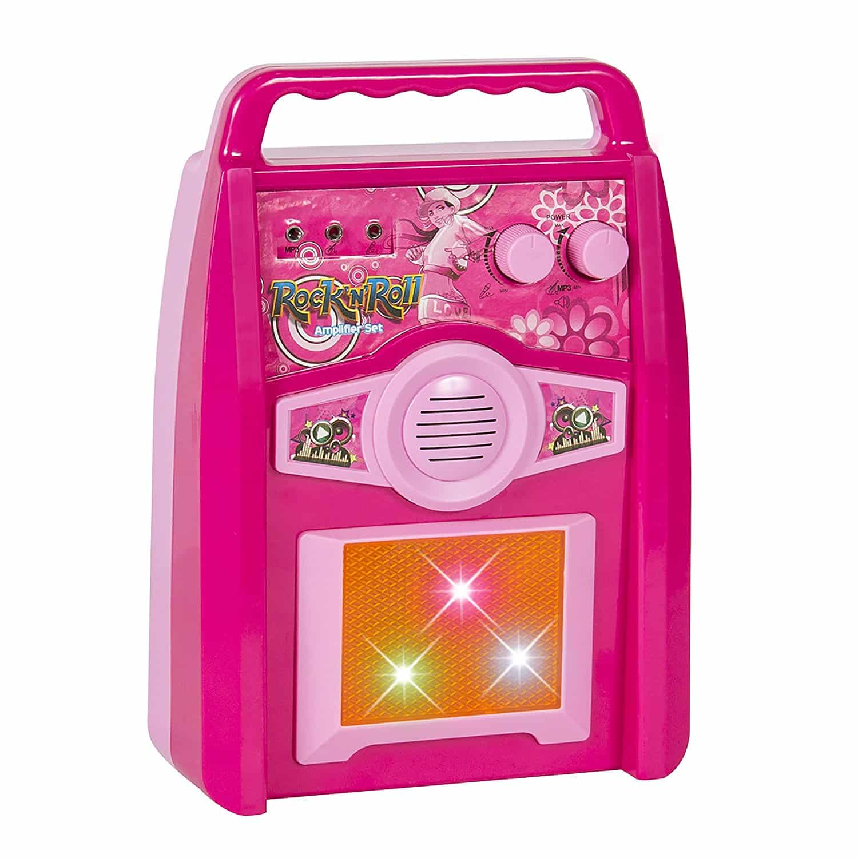 Guitarra Eletrica Infantil Rosa para Meninas Best Choice Kids Electric Guitar 5
