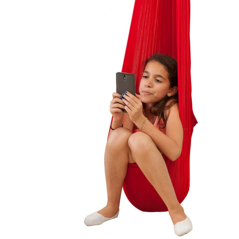 Indoor Swing for Kids by InYard Great for Sensory Integration (Up to 77lbs, Red)4