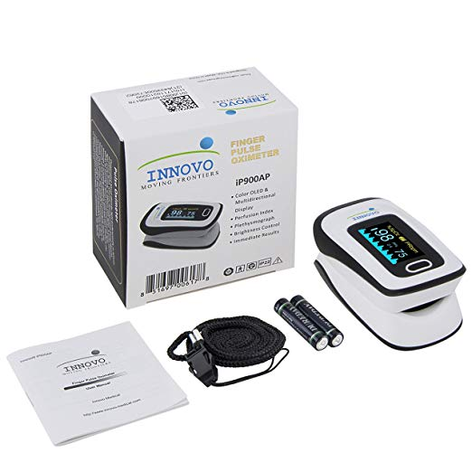 Innovo Deluxe Fingertip Pulse Oximeter with Plethysmograph and Perfusion Index 6
