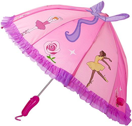 Kidorable Pink Ballerina Umbrella for Girls2