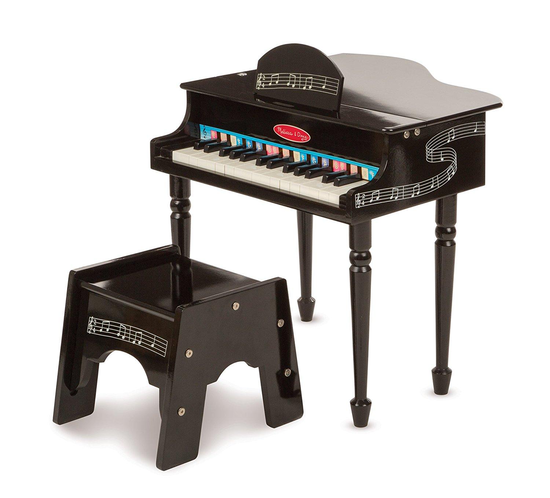 Melissa & Doug Aprenda a tocar piano clássico com 30 teclas, livro de canções codificado por cores