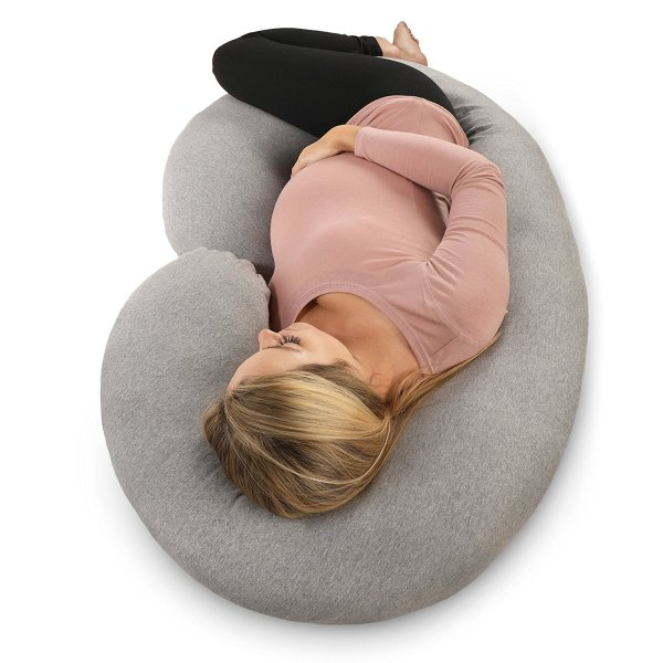 PharMeDoc Pregnancy Pillow with Jersey Cover, C Shaped Full Body Pillow5
