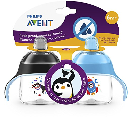 Philips AVENT 2 Piece My Little Sippy Cup, Blue Black 2
