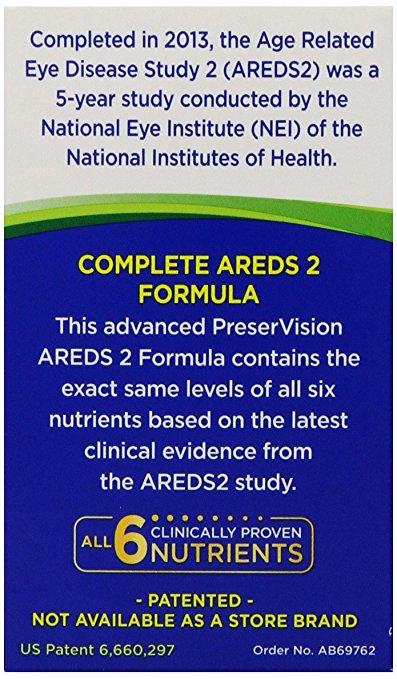 Preservision Ocuvite com AREDS 2 – 120 CapsGels 2