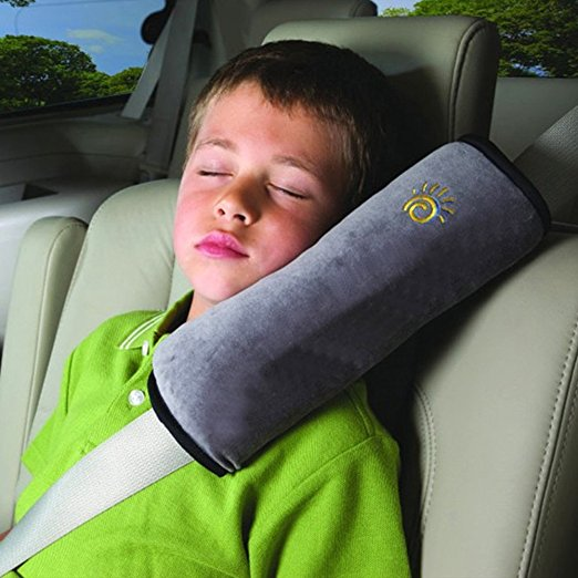 Seat Belt Cushion Usefully Baby Car Auto Shoulder Pad Soft Headrest Vehicle Safety Pillows Strap (Grey)