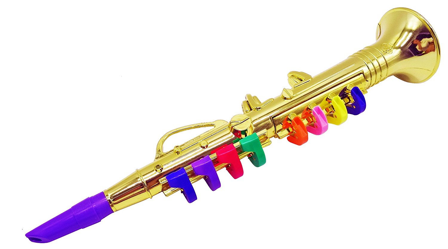 Set of 2 Music Instruments, Saxophone and Clarinet. Combo with over 10 Color Coded Teaching Songs included5